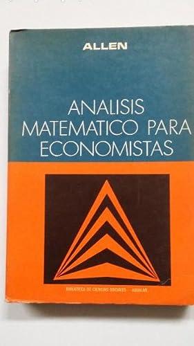 ANÁLISIS MATEMÁTICO PARA ECONOMISTAS. R. G. D.