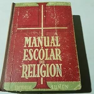 Manual escolar de religion - editorial lumen