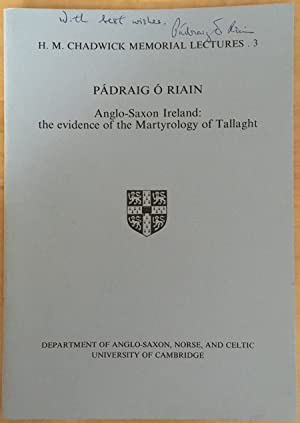 Anglo-Saxon Ireland: The Evidence of the Martyrology of Tallaght