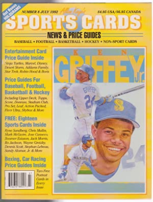 Allan Kaye's Sport Cards News & Price Guides Number 8 July 1992 Griffey Jr. cover