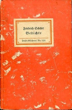 Gedichte (IB 525). Ausgewählt von Katharina Kippenberg.: Insel-Bücherei - Schiller,
