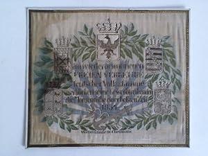 Patriotische Seidenstickerei (14 cm x 17 cm: Chemnitz- Weberschule (Hrsg.)