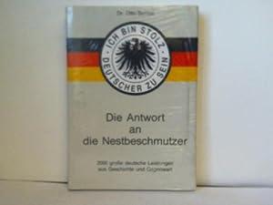 Ich bin stolz Deutscher zu sein. Die: Scrinzi, Dr. Otto