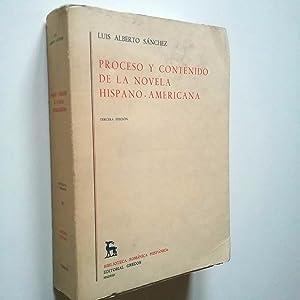 Proceso y contenido de la novela hipano-americana: Luis Alberto Sánchez