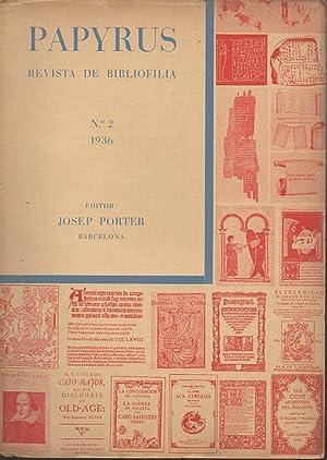 PAPYRUS. REVISTA DE BIBLIOFILIA. NÚMERO 2. 1936.: PORTER, Josep (Editor).