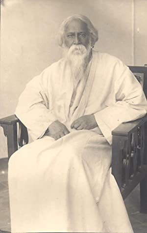 Photograph of Rabindranath Tagore. [With:] an Autograph Letter by Amiya Chakravarty