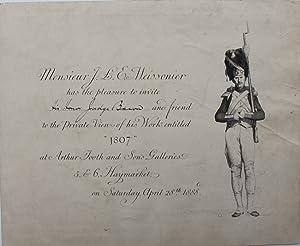 has the pleasure to invite His Honour: MONSIEUR J.L.E. MEISSONIER