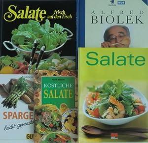 Bild des Verkäufers für 6 Kochbücher: Alfred Biolek Meine Rezepte / Salale frisch auf den Tisch / Feines Salat-Buffet / Salate / Köstliche Salate / Spargel leicht gemacht zum Verkauf von Peter Nieradzik - Antiquariat LibroBase