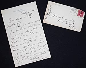 Handwritten letter to J. M. Dickinson, Lisbon, Ohio, from Senator John Sherman