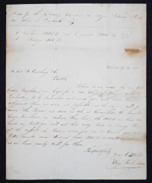 Benjamin Rich & Sons to Nathaniel Cushing & Co. re: order for anchors