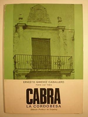 Cabra la cordobesa. Balcón poético de España: Ernesto Giménez Caballero