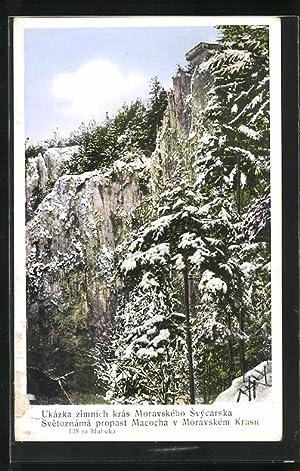 Ansichtskarte Macocha, Ukazka zimnich kras Moravskeho Svycarska