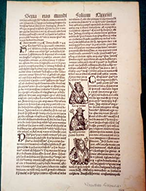 """Leaf from Liber Chronicarum """"Nuremberg Chronicle"""" with: Hartmann Schedel."""