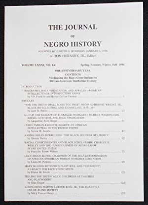 The Journal of Negro History -- vol. 81, no. 1-4 -- 1996 -- 80th Anniversary Issue: Vindicating t...