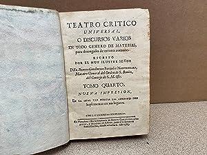 Teatro crítico universal, o discursos varios en: Benito Geronimo Feijoo