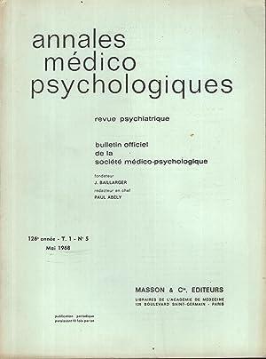 Annales Médico Psychologiques - Revue Psychiatrique -: H. Beaudouin, J.-L.