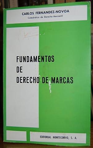 FUNDAMENTOS DE DERECHO DE MARCAS: FERNANDEZ-NOVOA, Carlos