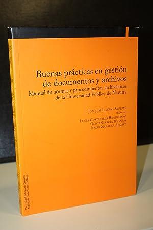 Buenas prácticas en gestión de documentos y: Llansó sanjuan, Joaquim.