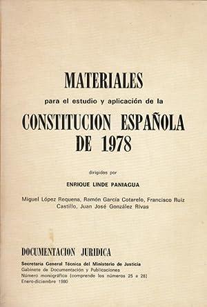 MATERIALES PARA EL ESTUDIO Y APLICACIÓN DE: LINDE PANIAGUA, ENRIQUE
