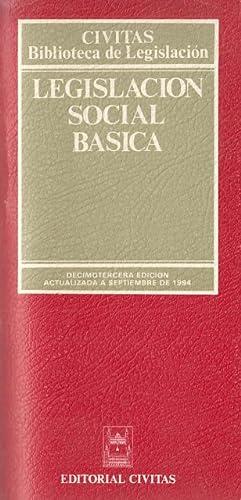 LEGISLACIÓN SOCIAL BÁSICA: CIVITAS (EDITA)