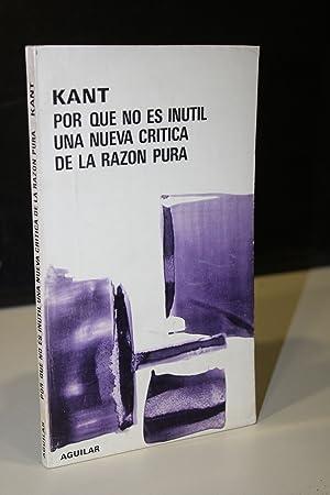 Por qué no es inútil una nueva: Kant, Immanuel.