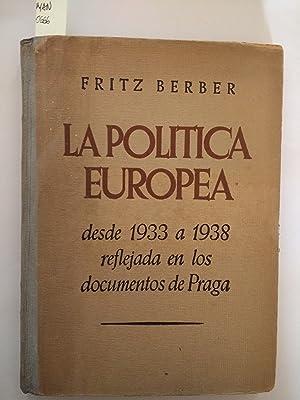 LA POLITICA EUROPEA DESDE 1933 A 1938: FRITZ BERBER
