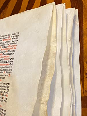 [INCUNABULA - PRINTED ON VELLUM]. Breviarium Romanum (16 consecutive pages / ENTIRE GATHERING)