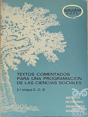 Textos comentados para una programación de las: Clemente Carral Sanchidrián
