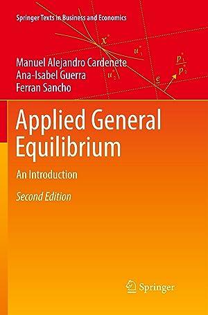 Imagen del vendedor de Applied General Equilibrium a la venta por moluna