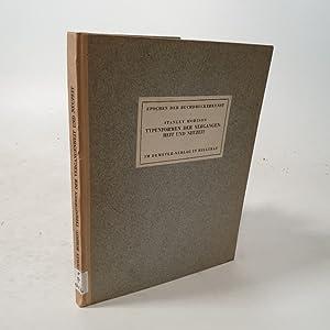 Typenformen der Vergangenheit und Neuzeit.: Morison, Stanley: