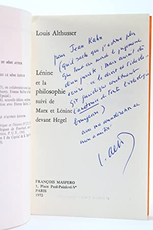 Lénine & la philosophie suivi de Marx: ALTHUSSER Louis