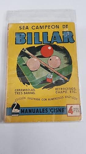 SEa CAMPEÓN DE BILLAR. ENRIQUEZ, CARLOS-MANUALES CISNE.