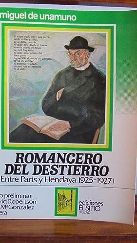 ROMANCERO DEL DESTIERRO (Entre Paris y Hendaya: MIGUEL DE UNAMUNO