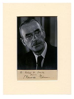 Photograph of Thomas Mann, Inscribed to Robert: MANN, THOMAS