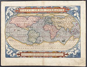 Map of the World published 1571 - Typus orbis terrarum