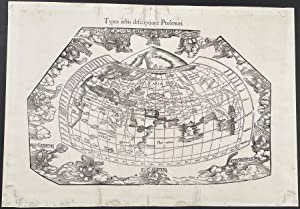 Map of the World published 1541 - Typus orbis descriptione Ptolemaei