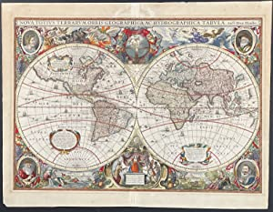 Map of the World published 1630 - Nova Totius Terrarum Orbis Geographica Ac Hydrographica Tabula ...