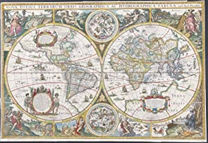 Map of the World published 1625 - Nova Totius Terrarum Orbis Geographica ac Hydrographica Tabula