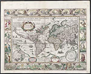 Map of the World published 1636 - Nova Totius Terrarum Orbis Geographica Ac Hydrographica Tabula....
