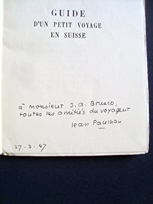 Guide d'un petit voyage en Suisse -: PAULHAN (Jean) -