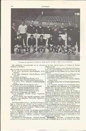 LAMINA ESPASA 36519: Equipo de balonmano de: Varios