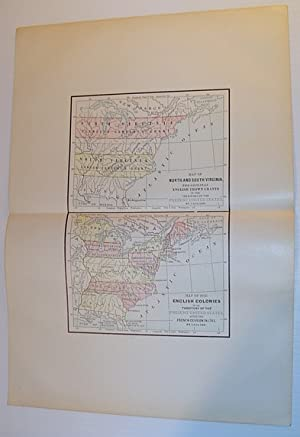 Colour Maps of: North and South Virginia - The Original Crown Grants; and The English Colonies in...