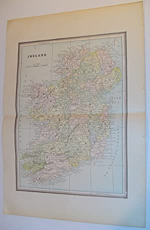Colour Map of Ireland - Circa 1902