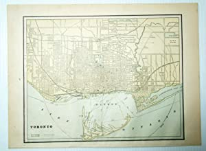 1889 Color Map of the City of Toronto, Ontario