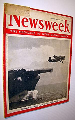 Newsweek - The Magazine of News Significance,: Pratt, Admiral William