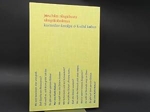 Simplicissimus. Kuenstler-Kneipe [Künstler-Kneipe] & Kathi Kobus. [Die: Ringelnatz, Joachim: