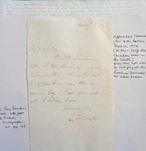 Single page letter all handwritten and signed dated August 1842.