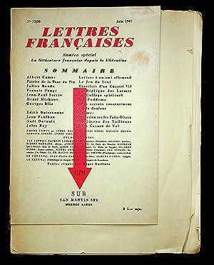 REVUE] Lettres françaises. Cahiers trimestriels de littérature: Albert Camus. Patrice