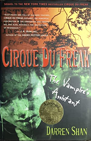 CIRQUE DU FREAK : The Vampire's Assistant (Hardcover 1st. - Signed by Author)