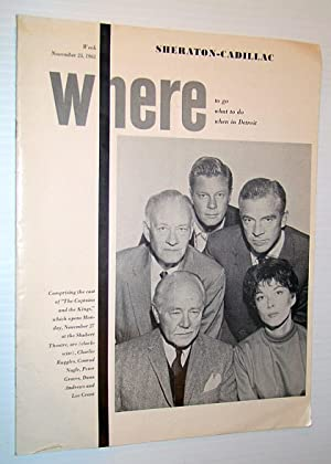 Where Magazine: Where to go, What to do, When in Detroit, Week of November 25, 1961